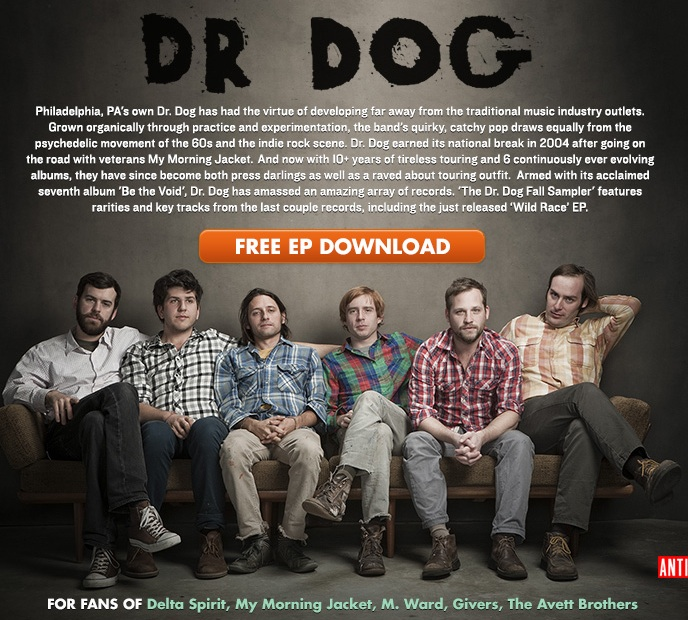 Free Dr. Dog Sampler From Noisetrade.