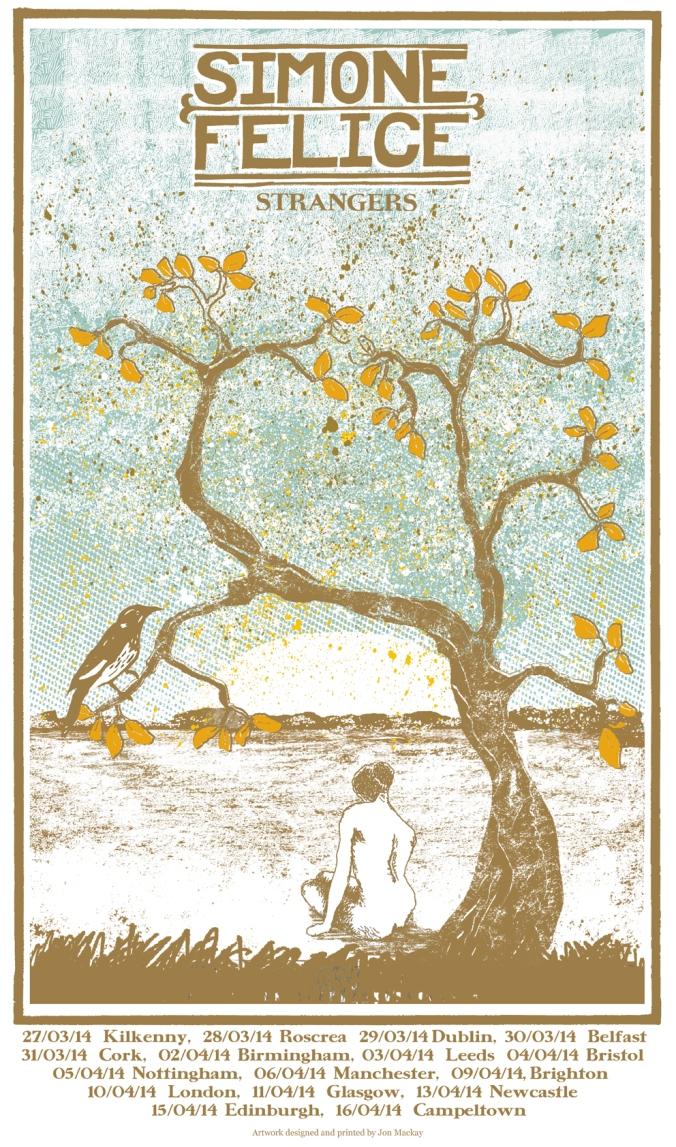 Simone Felice - UK Tour & Poster